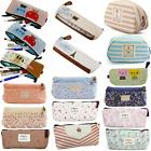 Travel Bag Canvas Vintage Pen Cosmetic Pouch Coin Pencil Cas