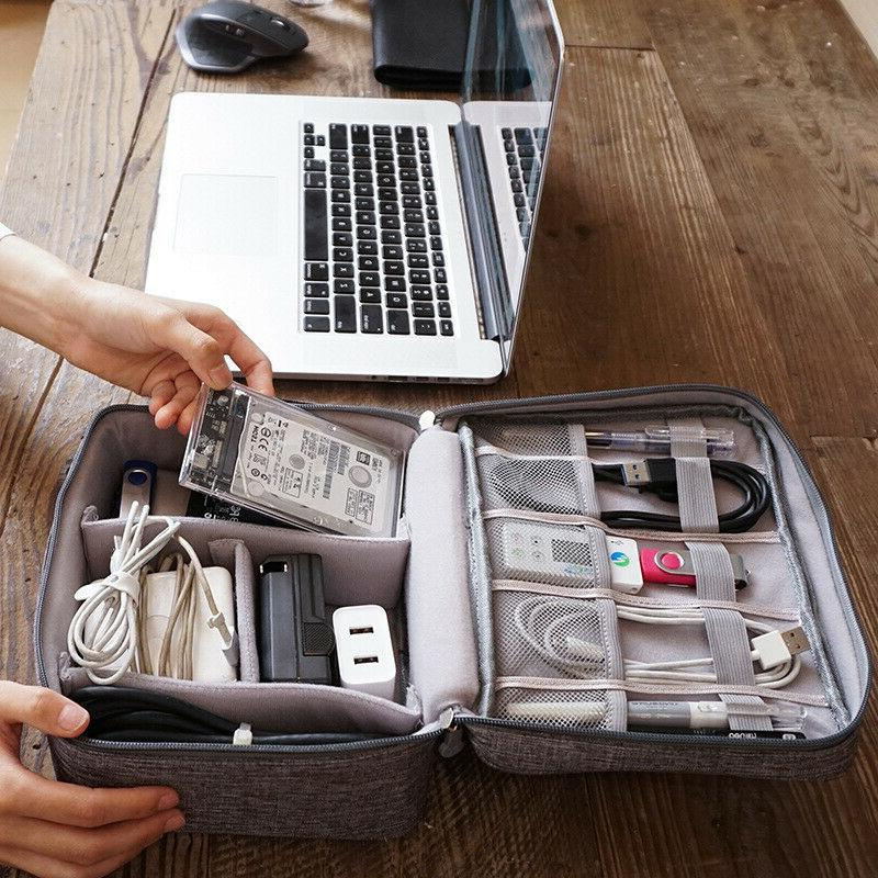 Travel Charger Storage Case Accessories
