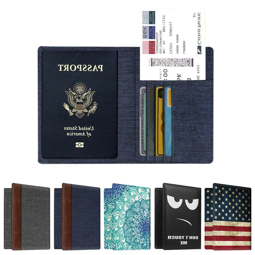 Travel Passport Holder Wallet Holder RFID Blocking Vegan Lea