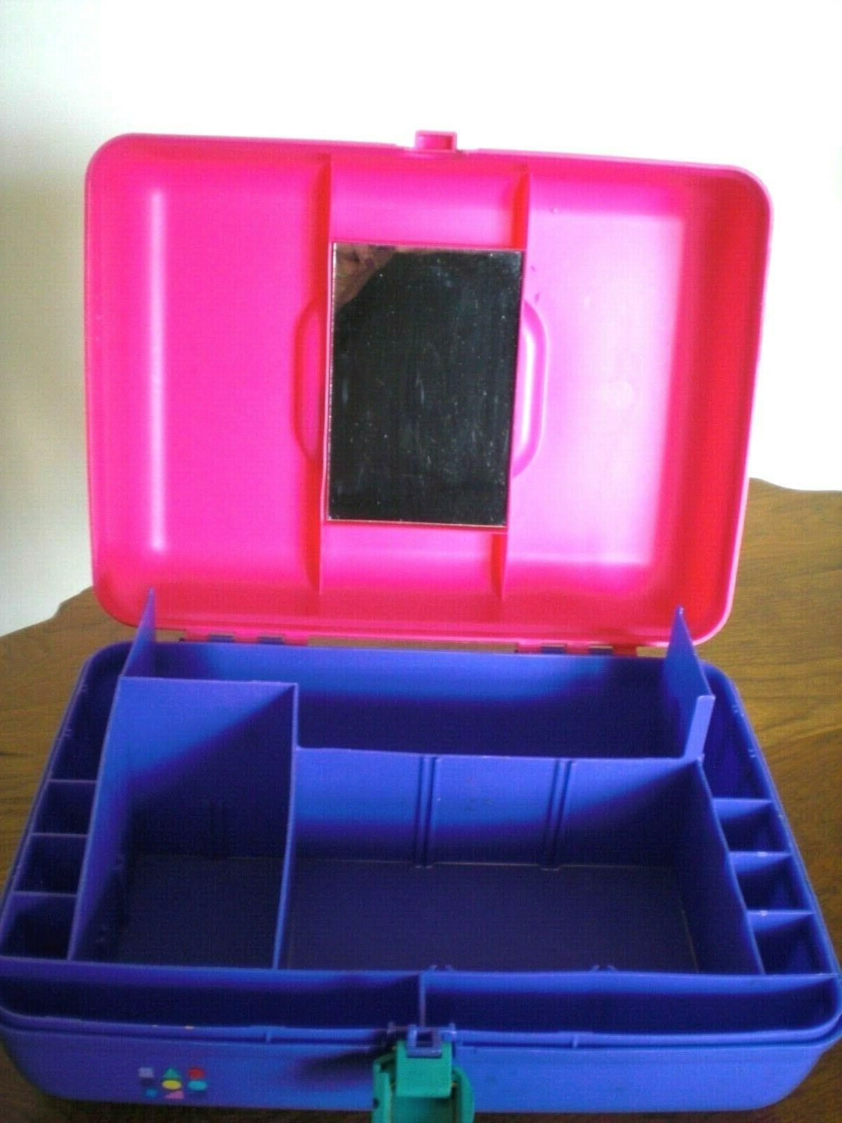 Vintage Caboodles Purple Turquoise Cosmetic Travel