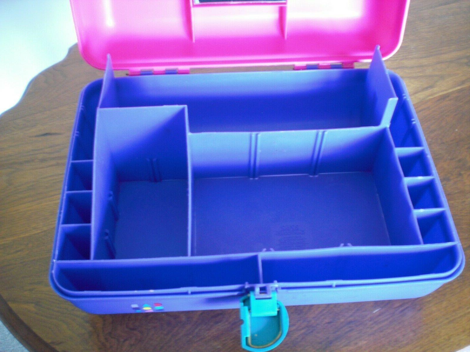 Vintage Caboodles Purple Turquoise Mirror Cosmetic Travel Case