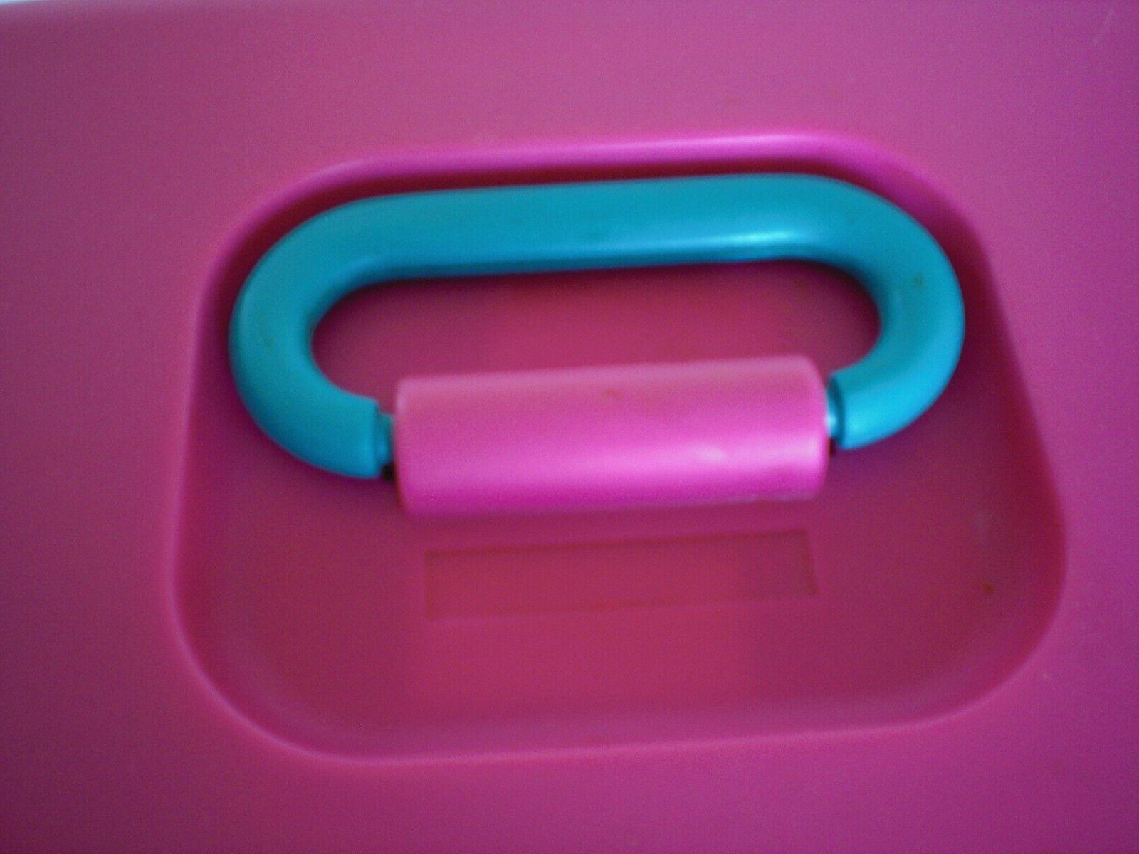 Vintage Caboodles Hot Purple Turquoise Cosmetic