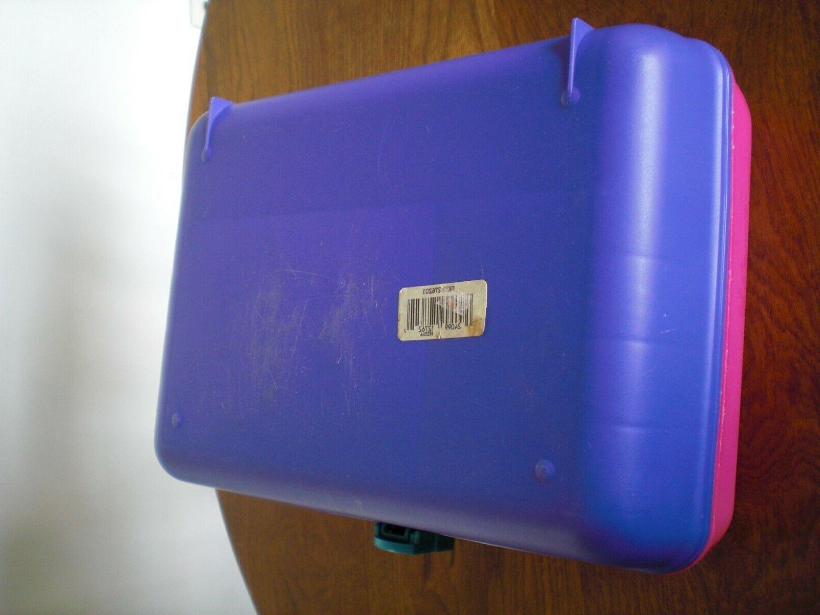 Vintage Caboodles Pink Purple Turquoise Cosmetic Travel Case