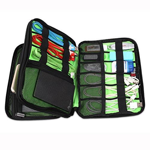 BUBM Waterproof Layer Organizer/Electronics Bag/Charger USB Stick Case