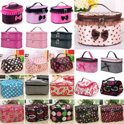 Makeup Cosmetic Bag Case Multifunction Zip Wash Organizer