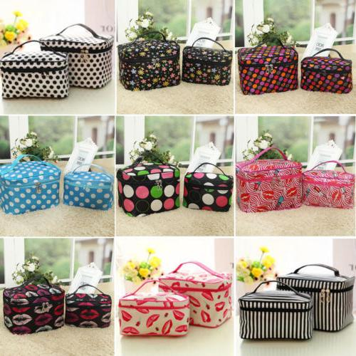 Makeup Travel Cosmetic Bag Case Multifunction Pouch Toiletry Zip Wash