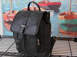 Alpine Swiss Leather Backpack Messenger Bag Briefcase Should