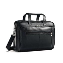 Samsonite Leather Checkpoint Friendly Case, Black