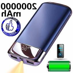 New 2000000mAh USB LCD LED Power Bank Battery Charger for Ce