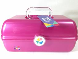 NEW Caboodles Pink On The Go Girl Classic Cosmetic Makeup Tr