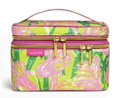 NWT Lilly Pulitzer Target Fan Dance Double Zip Cosmetic Trai