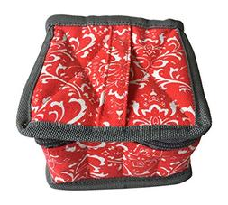 Essential Oil 16 Bottle Padded Zipper Travel Case with White