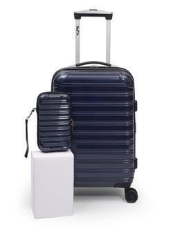 """iFLY Online Exclusive Hard Sided Luggage Fibertech 20"""" & Tra"""