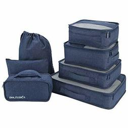 Packing Cubes 7Sets Travel Luggage Organizer Case Bags for f