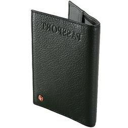 Alpine Swiss Passport Cover Genuine Leather Travel Case Orga