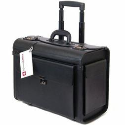 "Pilot Briefcase Attache Lawyers on Wheels Case Rolling 17"" L"