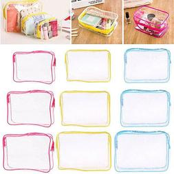 PVC Waterproof Clear Cosmetic Storage Bags Packing Case Trav