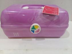 Caboodles Rare Purple Marble On The Go Girl Classic Cosmetic