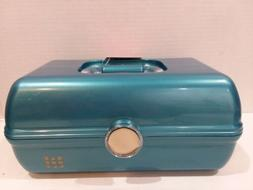 Caboodles Rare Teal Blue On The Go Girl Classic Cosmetic Mak
