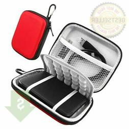 Red  Lacdo Hard Drive  Carrying  Case 2.5 Inches HDD  Shockp