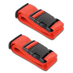 Red Luggage Belts Suitcase Straps Adjustable and Durable, Na
