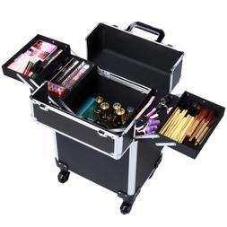 Rolling Professional Makeup Trolley Artist Travel Case Cosme