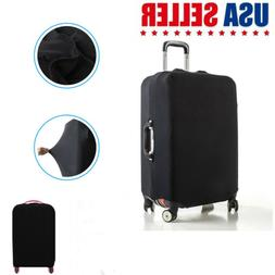 Solid Color Protective Luggage  Elastic Travel Suitcase Trol