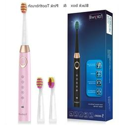 Fairywill Electric Toothbrush 5 Modes 3 Heads Rechargeable 2
