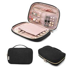 BAGSMART Travel Jewelry Storage Cases Jewelry Organizer Bag