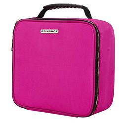 """SONGMICS 10.6"""" Cosmetic Bags travel Makeup Train Case with A"""