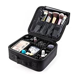 Makeup Train Case,FORTECH Makeup Case Organizer Portable A