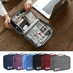 travel cable bag organizer charger storage electronics