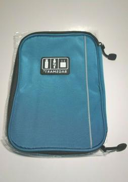 travel electronics and accessories organizer case teal