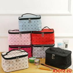 Travel Professional Large Makeup Bag Cosmetic Case Storage H