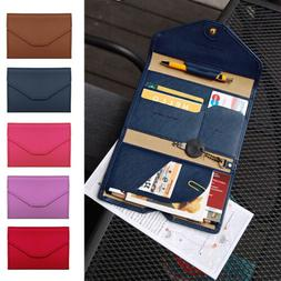 Unisex Leather Passport Case Cover Travel Wallet ID Card Hol