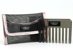 Victoria's Secret Hair Travel Mini Comb Brush in Pink & Blac