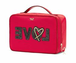Victoria's Secret Runway Patch Jetsetter Travel Case Red Lov
